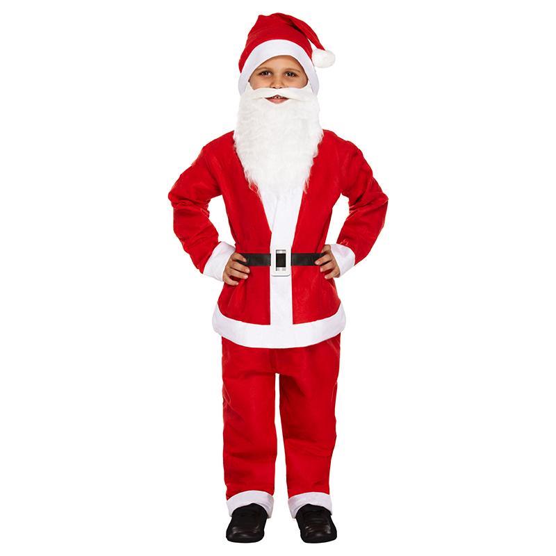 Kerstman Pak Santaclaus Kostuum Voor Kinderen Kersttruiwinkel Nl