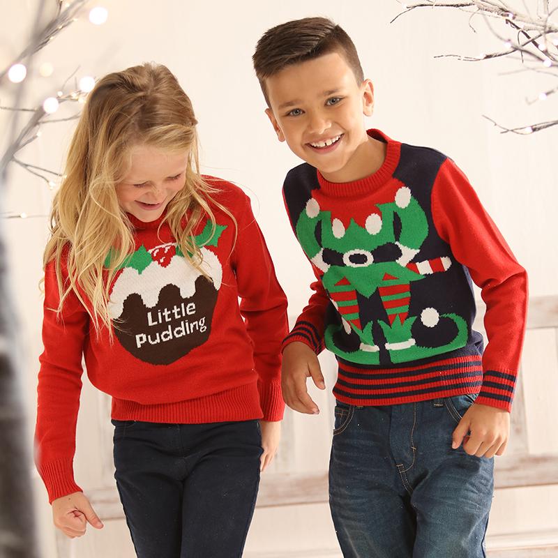 Kersttrui Voor Kinderen.Foute Kersttrui Kinderen Little Pudding Rood Kersttruiwinkel Nl
