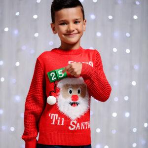 Kersttrui Gezin.Foute Kinder Kersttruien Kersttrui Collectie Kinderen