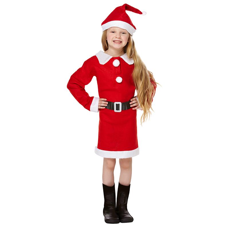 Mrs Santa Claus Pak Kostuum Voor Kinderen Kersttruiwinkel Nl