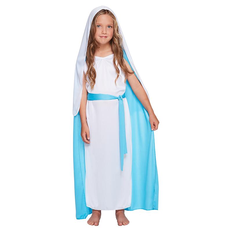 Maria Kostuum Voor Kinderen Levende Kerststal Kersttruiwinkel Nl
