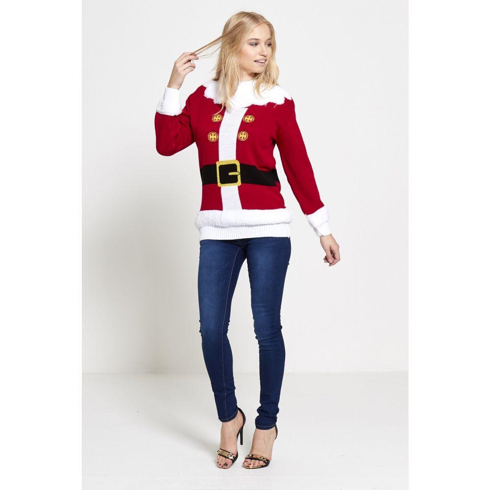 Foute Dames Kersttrui.Foute Kersttrui Kerstman Santa S Jacket Rood Dames