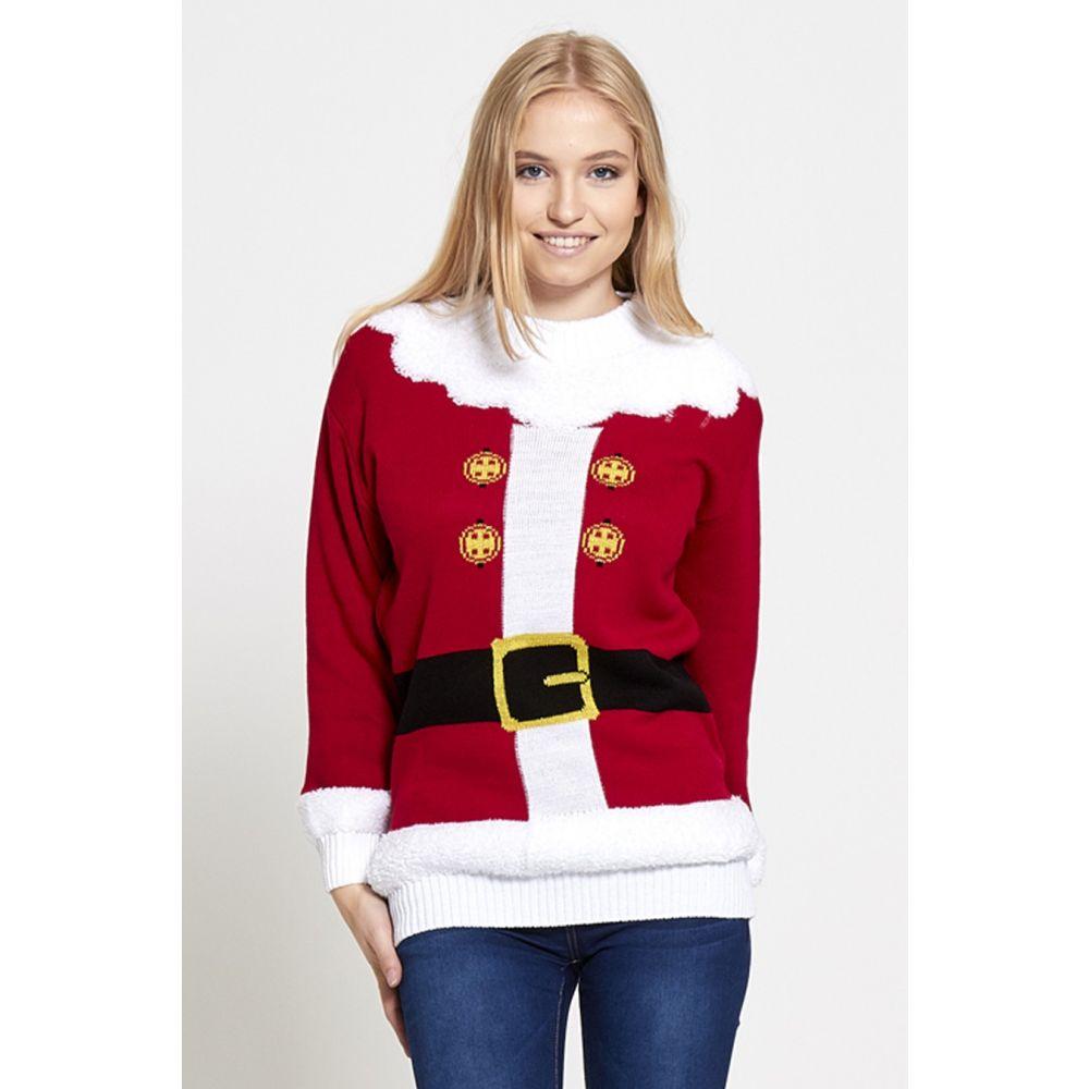 Kersttrui Kerstman.Foute Kersttrui Kerstman Santa S Jacket Rood Dames