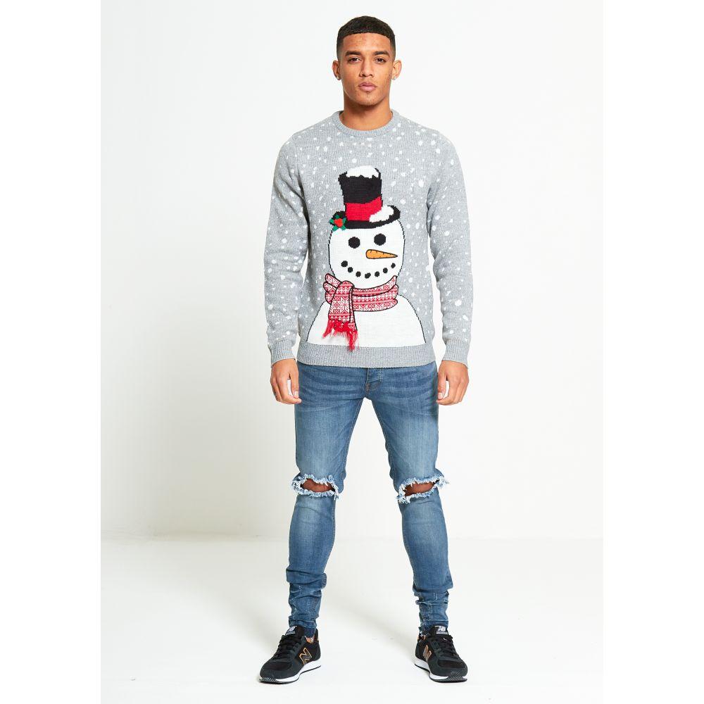 Kersttrui Dames Sneeuwpop.Foute Kersttrui Heren 3d Sneeuwpop Frosty Grijs Kersttruiwinkel Nl